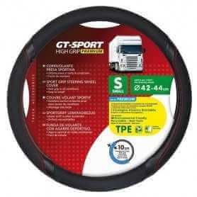 GT-Sport, coprivolante in TPE - Nero/Rosso