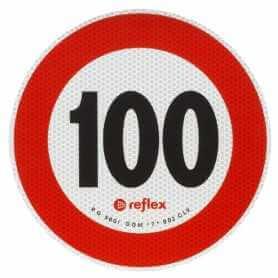 DISCO ADESIVO 100 KM/H OMOLOGATO