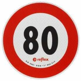 DISCO ADESIVO 80 KM/H OMOLOGATO