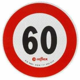 DISCO ADESIVO 60 KM/HOMOLOGATO