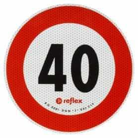 DISCO ADESIVO 40 KM/H OMOLOGATO