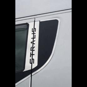 Profili portiera con scritta Stralis acciaio inox