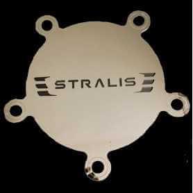 Coprimozzo anteriore scritta Stralis in acciaio inox Iveco
